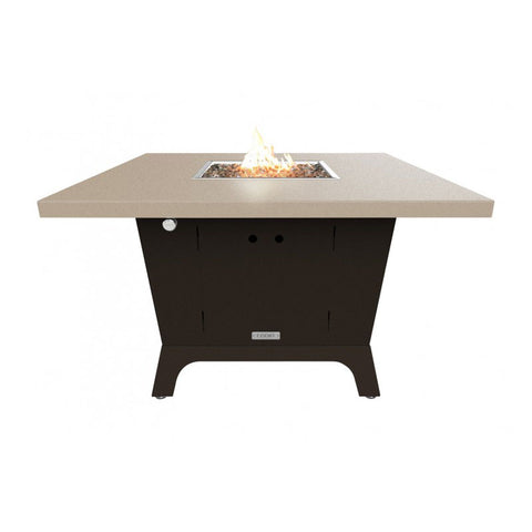 Parkway Square Dining Height Fire Pit Table