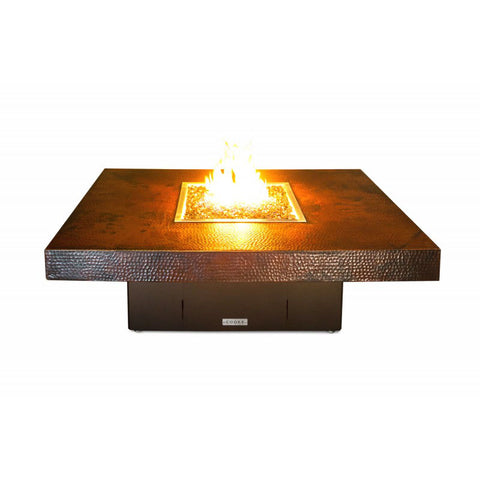 Santa Barbara Fire Pit Table with Copper Top