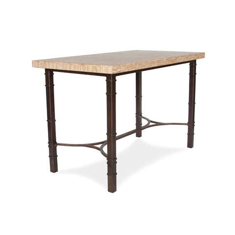 San Marco Counter Height Dining Table with Sandstone Rectangle Table Top