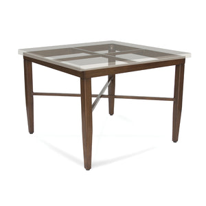 Panama Classic Square Dining Table Base with Mactan Cast Limestone Square Table Top