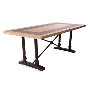 Somerby Rectangle Dining Table with Travertine Table Top