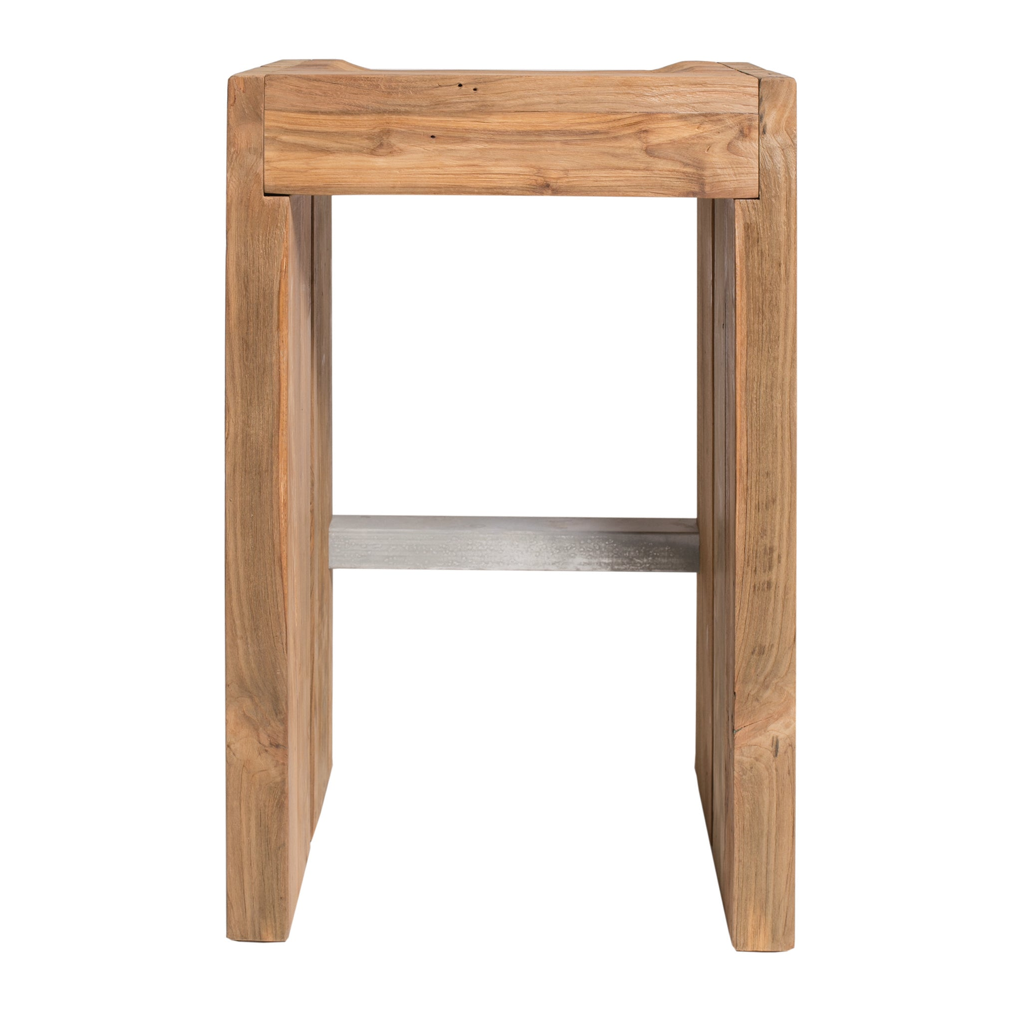 Solo Bar Stool In Reclaimed Teak