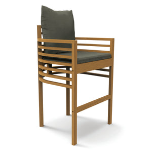 Spirals Teak Bar Chair