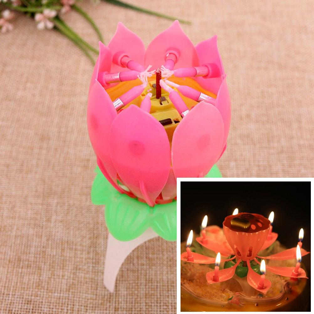 Musical Flower Happy Birthday Candle Vine Loot