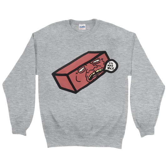 It's Mad Brick Crewneck Sweatshirt – Eugene.art - ArtWeAre Sweatshirts