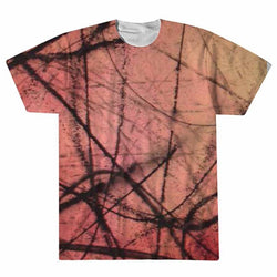 Red Energy Impression All Over T-shirt – David Irving Weiner - ArtWeAre All Over Print