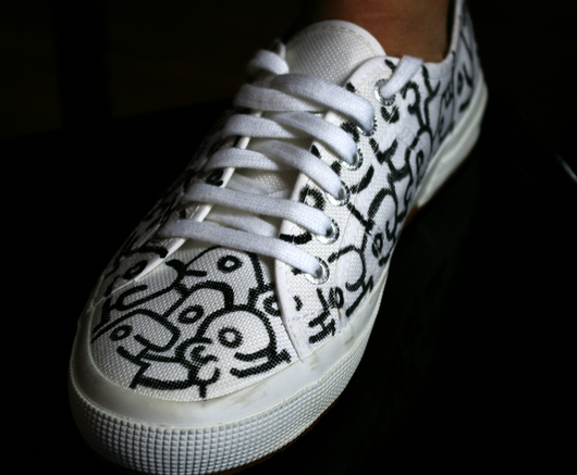 Btan hand-drawn supergas (1 of 1) - ArtWeAre Shoes