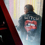 Witch Lips Leather Jacket – Cadence Hooks – ORIGINAL (1 of 1) - ArtWeAre jackets