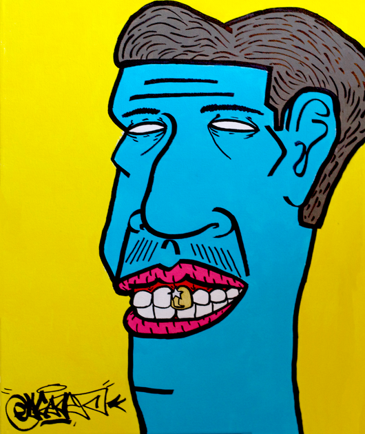 Gold Tooth (1 of 1) Acrylic on Canvas 16