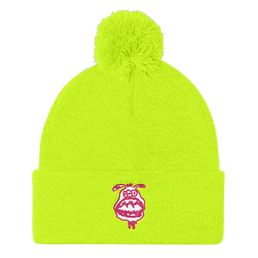 Neon Monster Pom Pom Hat – Tisha - ArtWeAre hats