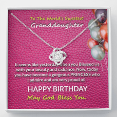 Happy Birthday To Sweetest Granddaughter