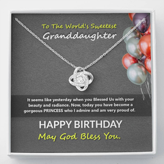 Birthday wises for the sweetest Granddaughter