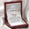 ♥ As a Mother, you KNOW when you see a gift that your daughter will LOVE and this one will not let you down.  ♥ Your DAUGHTER is going to just adore this stunning Interlocking Hearts necklace in its own gift box and a touching card from you that reads:  <blockquote>If I could turn back life's clock, the only thing I would do differently is to give birth to you sooner. Each new day greets me with enormous pride in having you in my life. You have made me immensely happy.  I LOVE YOU, MOM