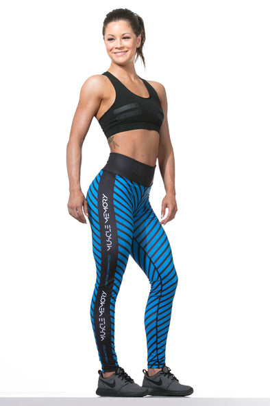 WOMEN'S 'FOR THE COMMITTED'  STRIPED LEGGINGS