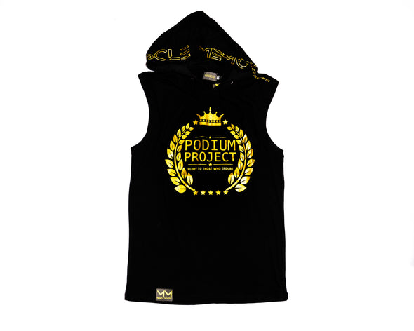 MEN'S PODIUM PROJECT SLEEVELESS HOODIE