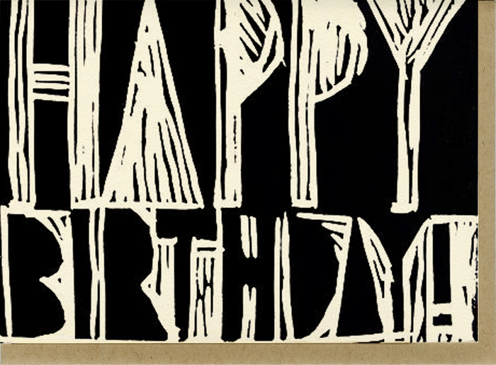 Birthday Woodblock - C1001