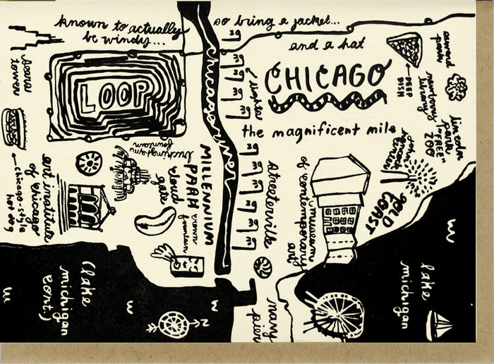 Chicago Map Card - C4502