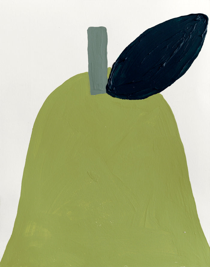 A Pear For You original acrylic painting 2020
