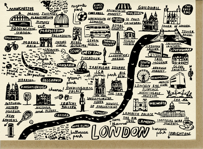 London Map Card - C4304