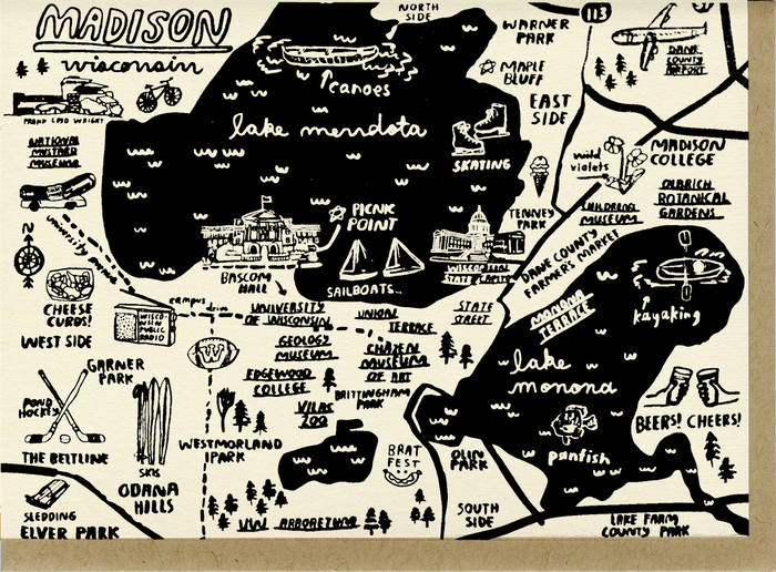 Madison Map Card - C4516