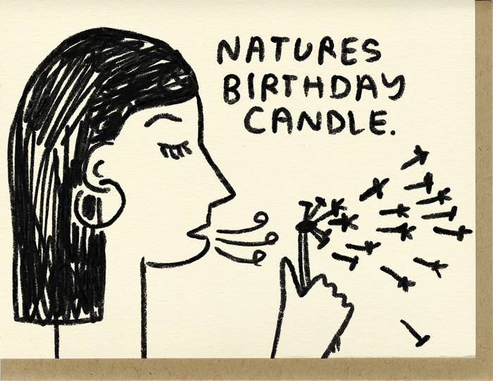 Nature's Birthday Candle - C1015