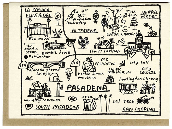 Pasadena Map Card - C4519