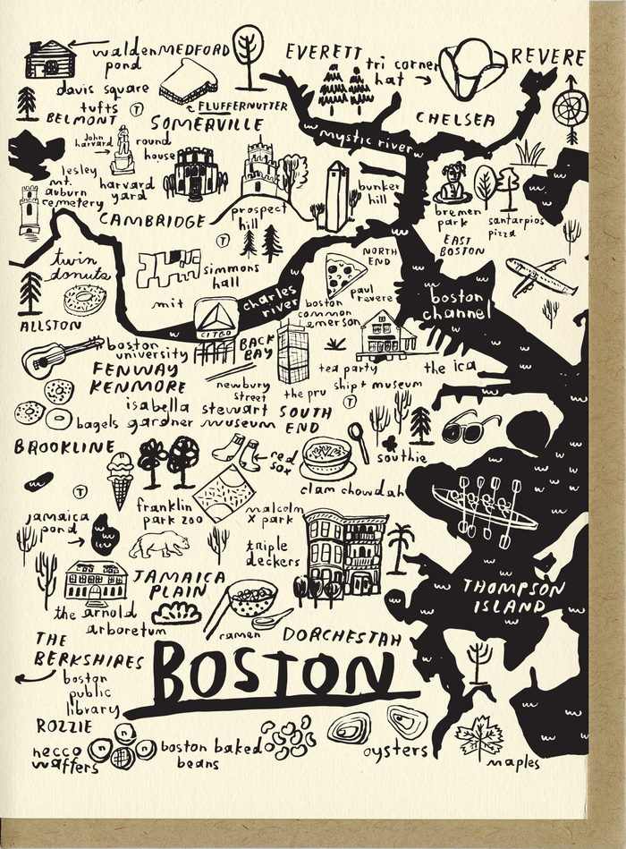 Boston Map Card - C4523