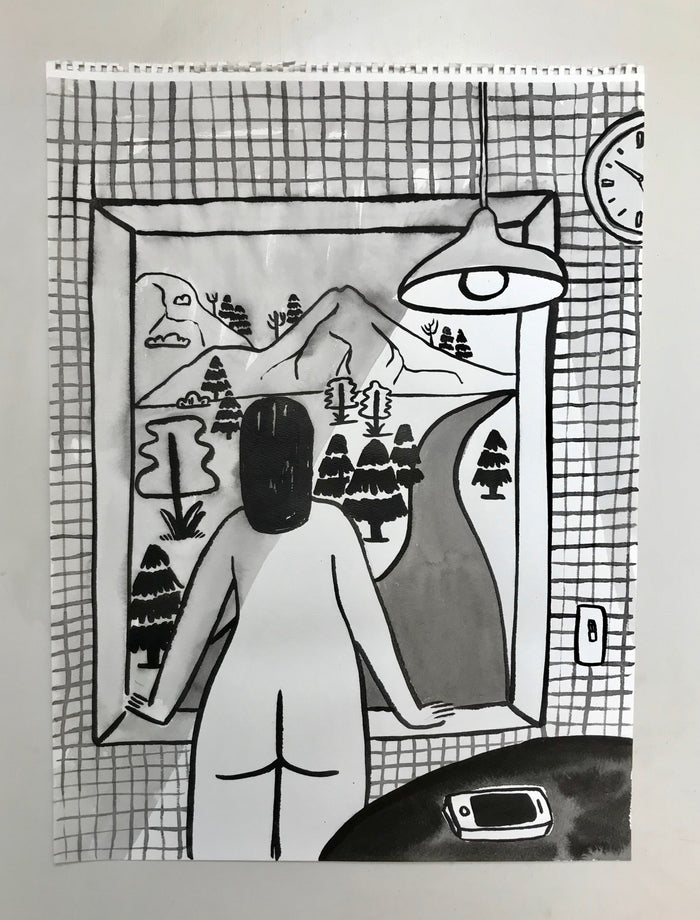 Original Painting - Mie Looking Out the Window