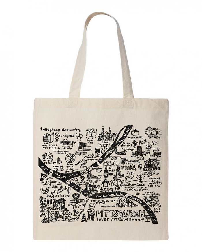 Pittsburgh Map Tote - T8726