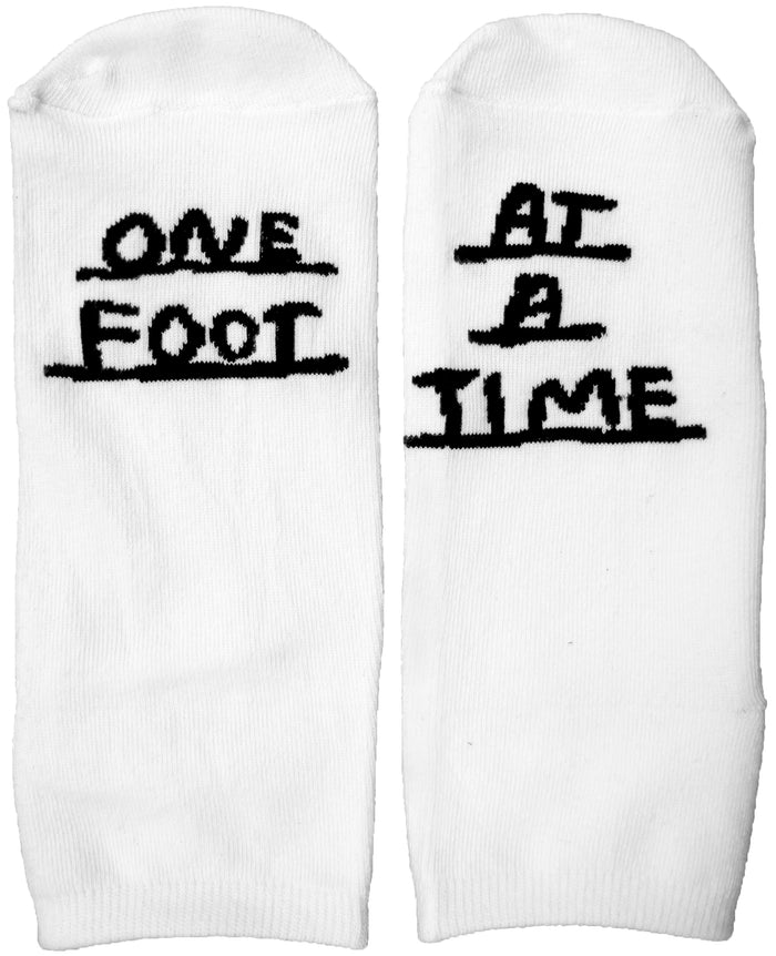 One Foot At A Time Socks - T8202 - BACK ORDERED UNTIL 7/15
