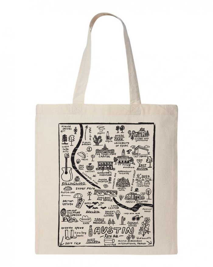 Austin Map Tote - T8063