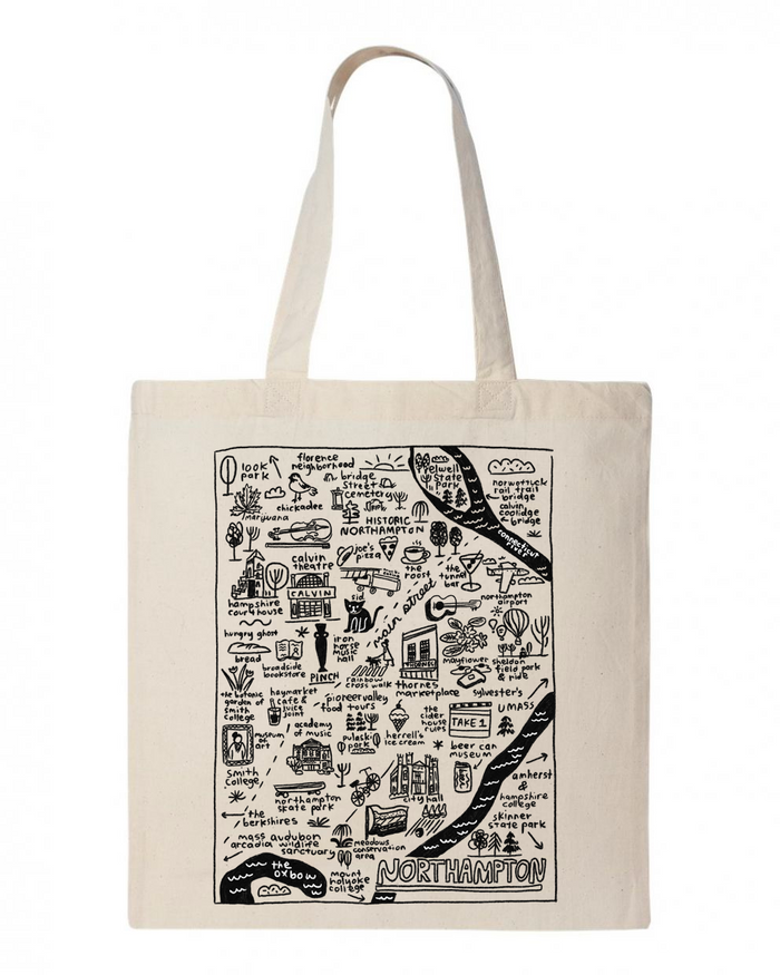 Northampton Map Tote - T8724