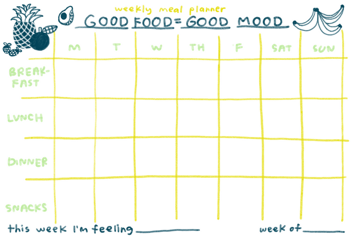 Good Food Meal Planner - T8106