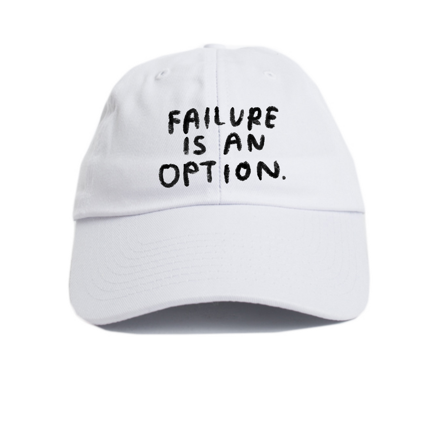 Failure is an Option Hat in White - T8068