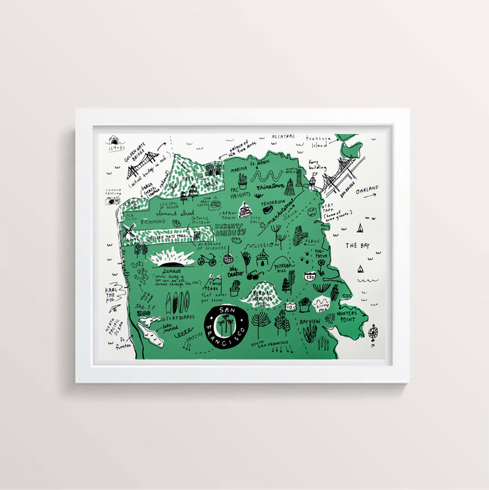 San Francisco Map Print - P9313