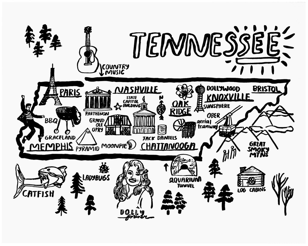 Tennessee Print - P9006