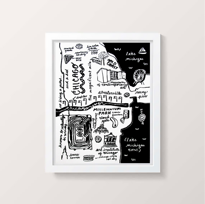 Chicago Map Print - P9306