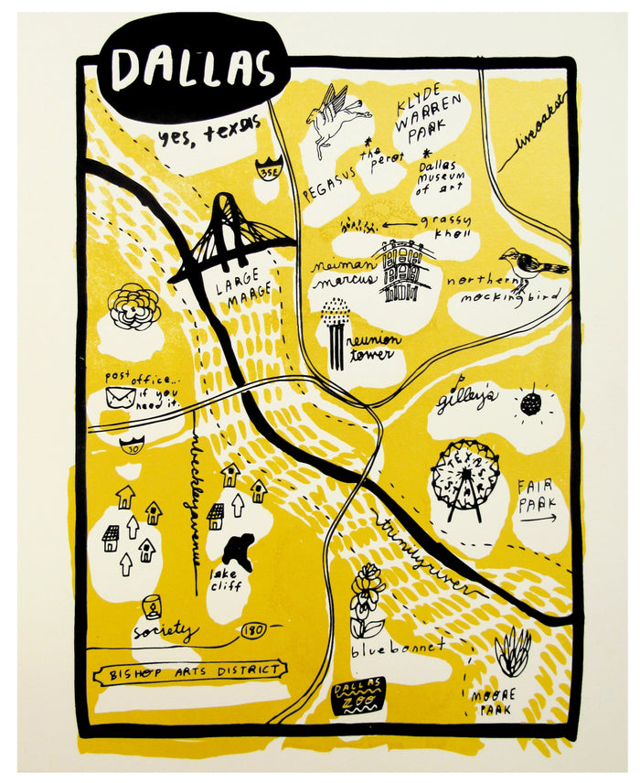 Dallas Map Print - P9507