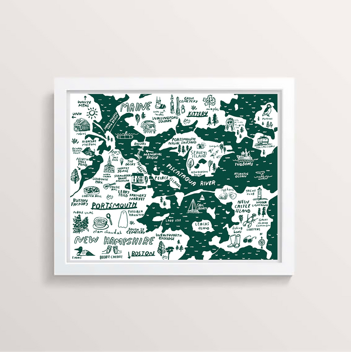 Portsmouth Map - Teal - P9528