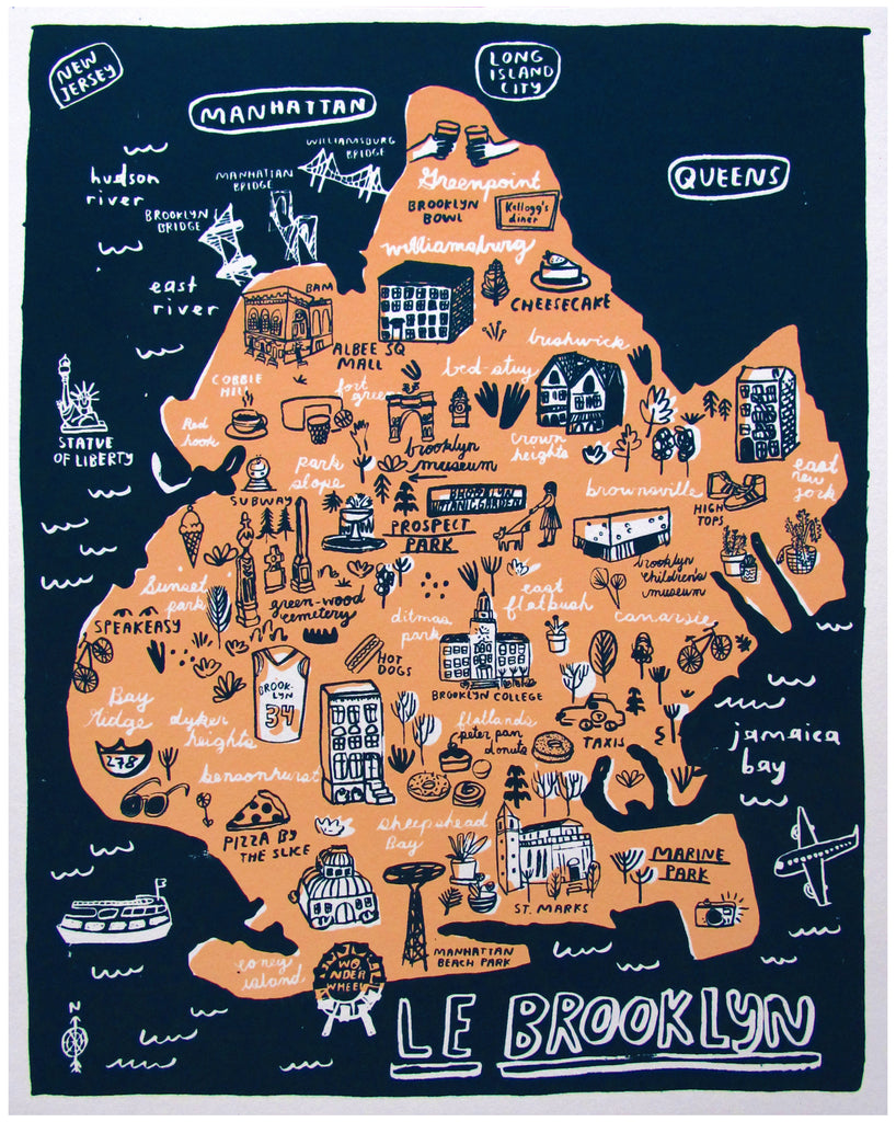 Map Of Brooklyn Brooklyn Map   P9529 – People I've Loved Map Of Brooklyn
