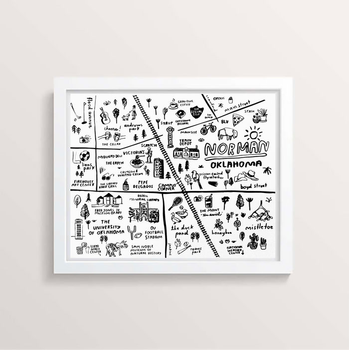 Norman Map Print - P9534