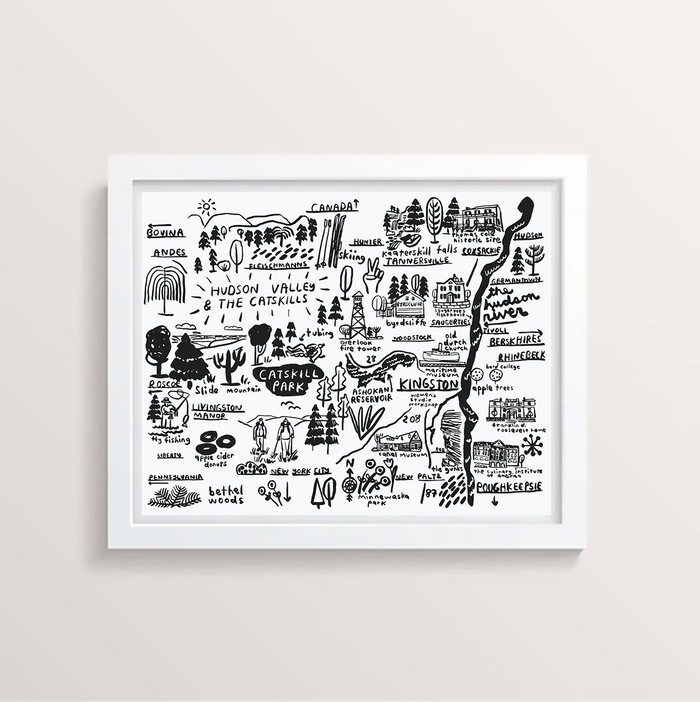 Hudson Valley Map Print - P9349