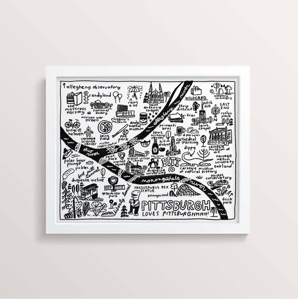 Pittsburgh Map Print - P9564