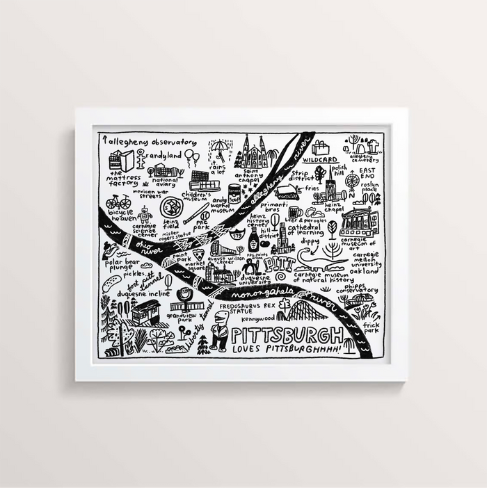 Pittsburgh Map Print - P9355
