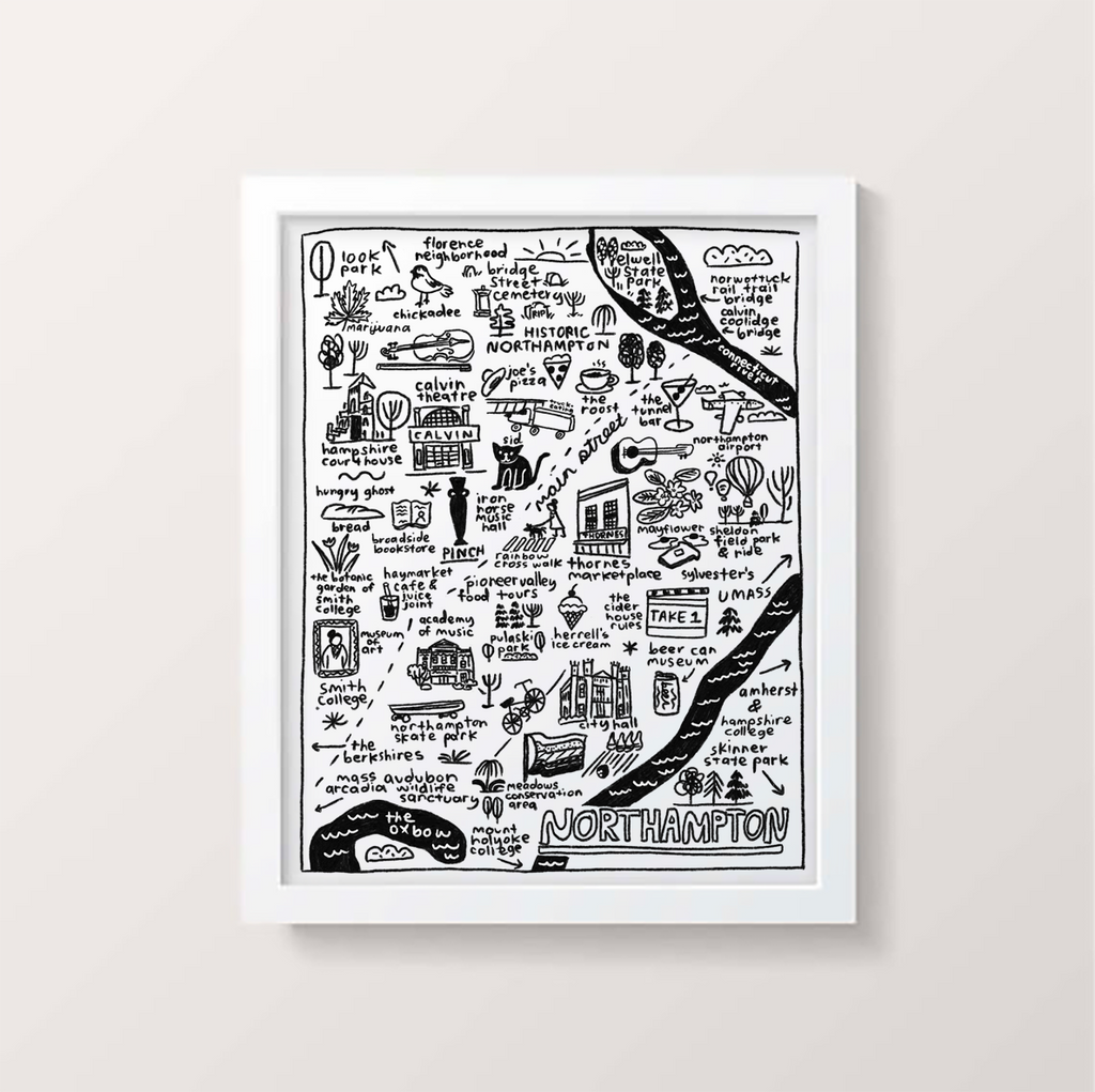 Northampton Map Print - P9565