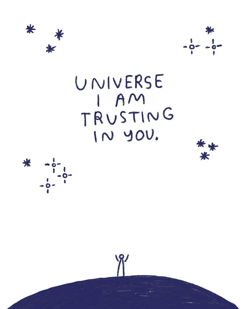 Universe I am Trusting in You - P9566