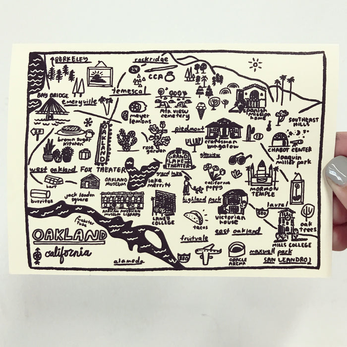 Oakland Map Card - C4307