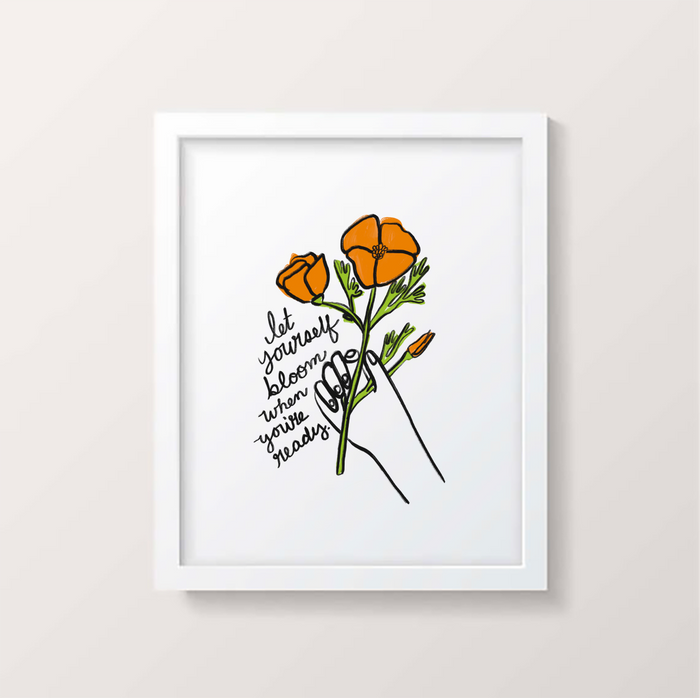 Let Yourself Bloom Digital Print - P9361