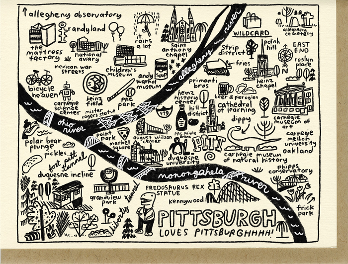 Pittsburgh Map Card - C4326