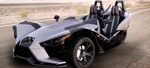 Silver Polaris Slingshot 8 Hour Rental $279 (manual transmission)